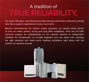 rinnai tradition sacry heating home solutions