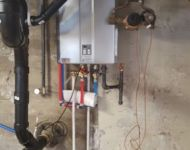 Basement Install Rinnai Tankless Water Heater
