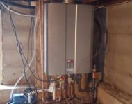 Crawl Space Tankless Water Heater Install